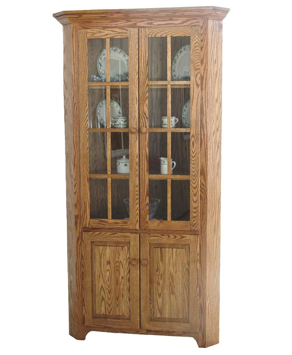 Shaker Amish Corner Cabinet  sc 1 st  Amish Direct Furniture & Shaker Corner Cabinet - Amish Direct Furniture