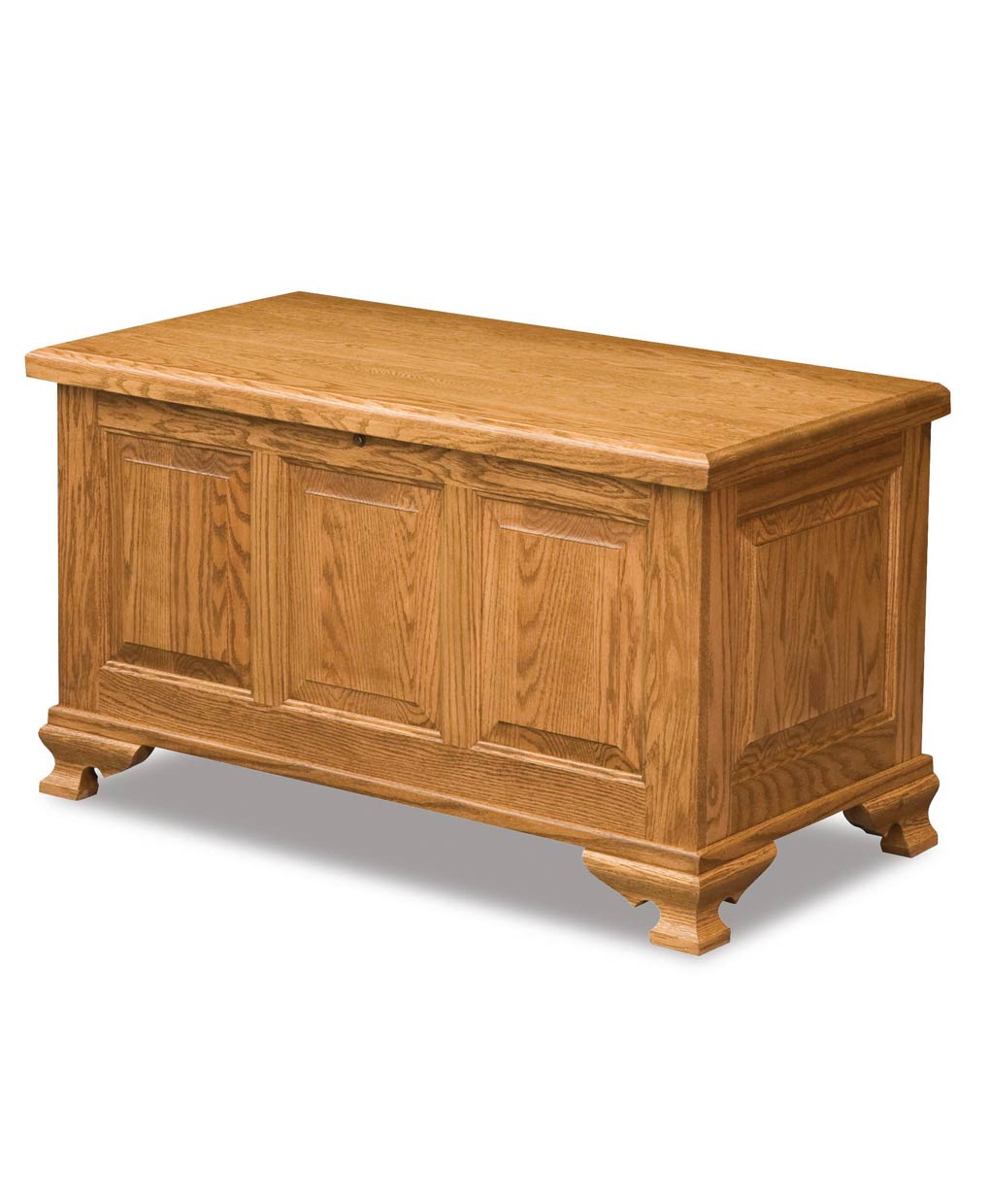 Triple Raised Panel Cedar Chest Amish Direct Furniture