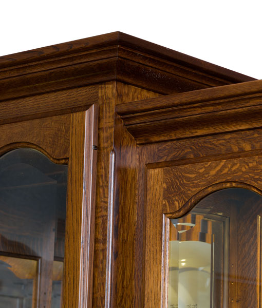 Vintage Amish Hutch [Crown Molding Detail]