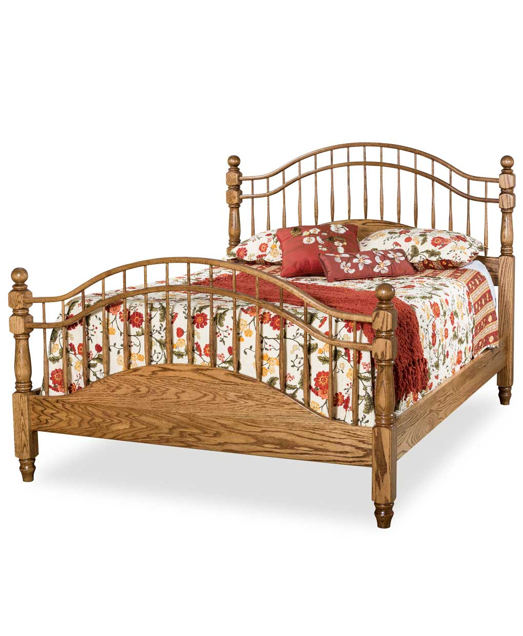 Double Bow Spindle Bed Amish Direct Furniture