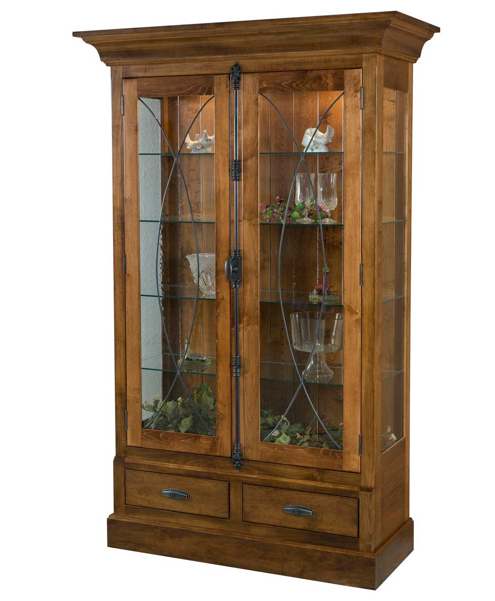 living room curio cabinets barstow curio cabinet amish direct furniture 13782