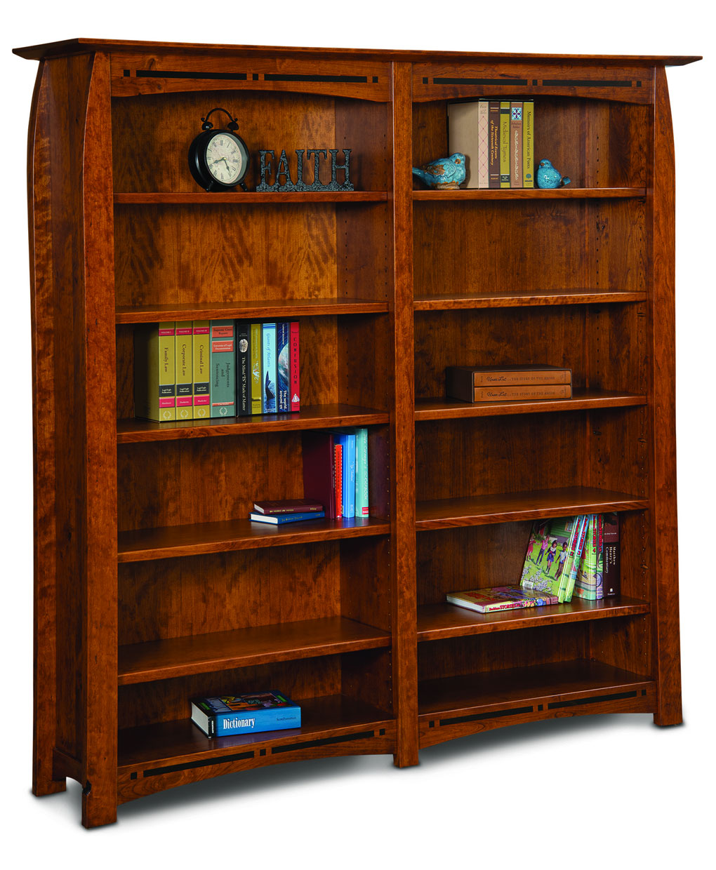 Amish Direct Furniture: Boulder Creek Double Bookcase