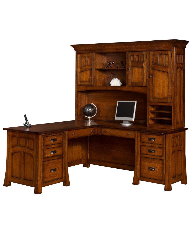 Bridgefort Mission Corner Desk [Front]