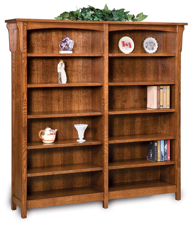 Bridger Mission Amish Double Bookcase