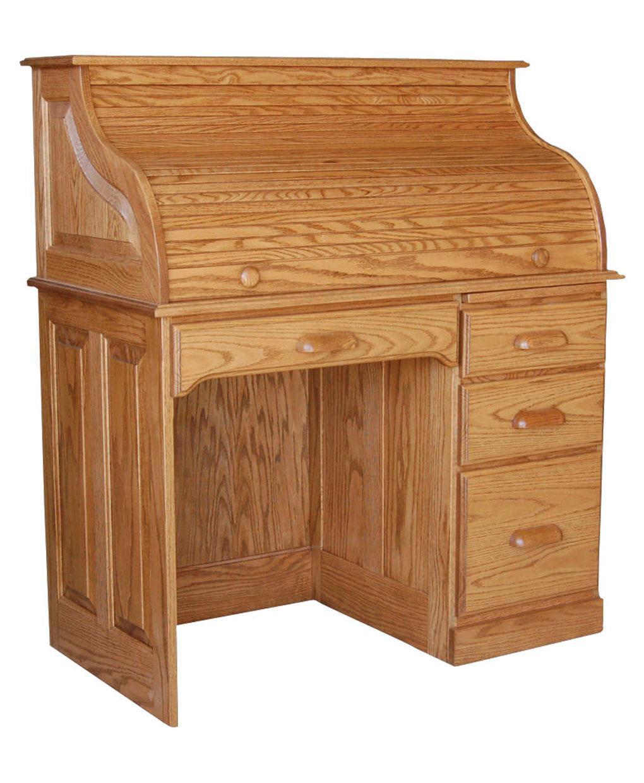 Single Pedestal Rolltop Desk Amish Direct Furniture