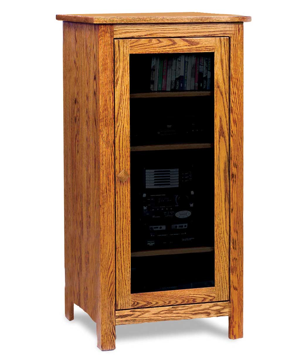 Mission Small Stereo Cabinet Amish Direct Furniture
