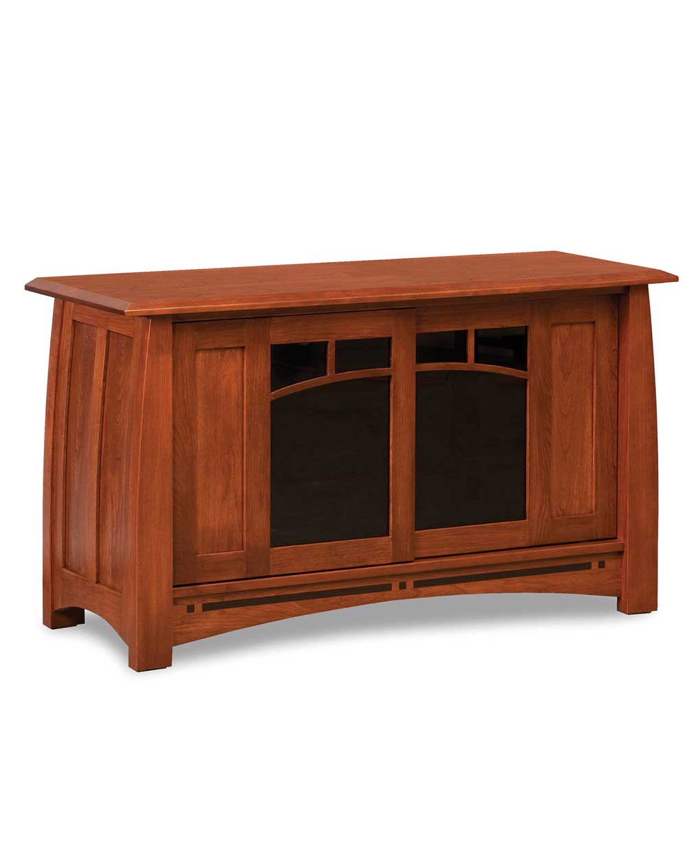 Pine Brook Boulder Mountain Residence Living Room: Boulder Creek 2-Sliding Door Media TV Stand