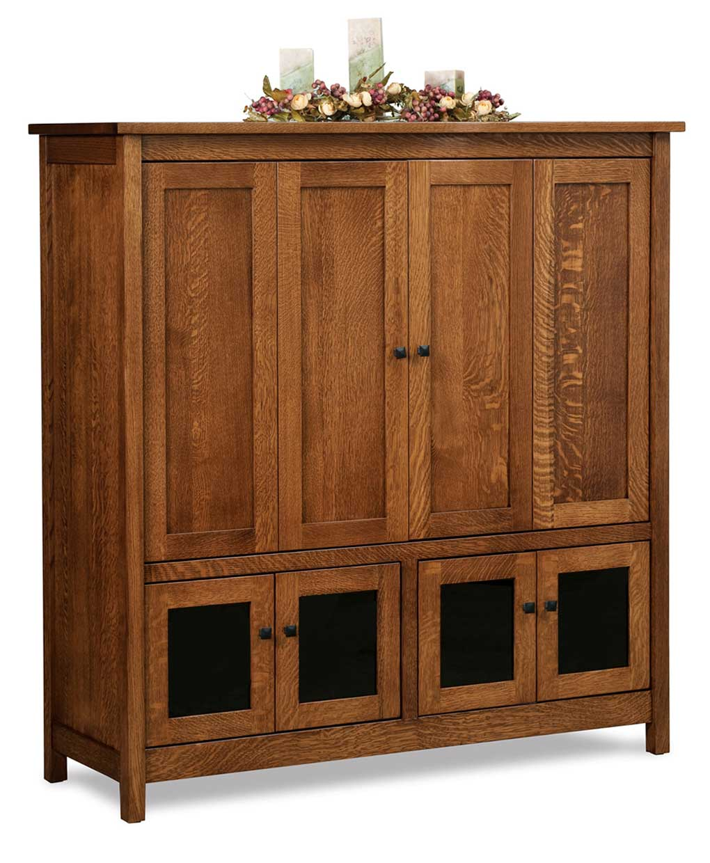 Centennial 4 Door Media Tv Entertainment Center Amish