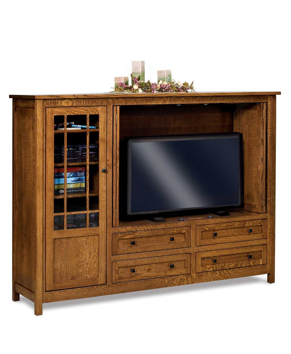 Centennial 4 Drawer Media Tv Entertainment Center Amish Direct Furniture