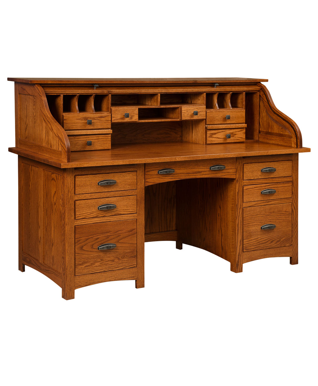 Oakwood Rolltop Desk Amish Direct Furniture