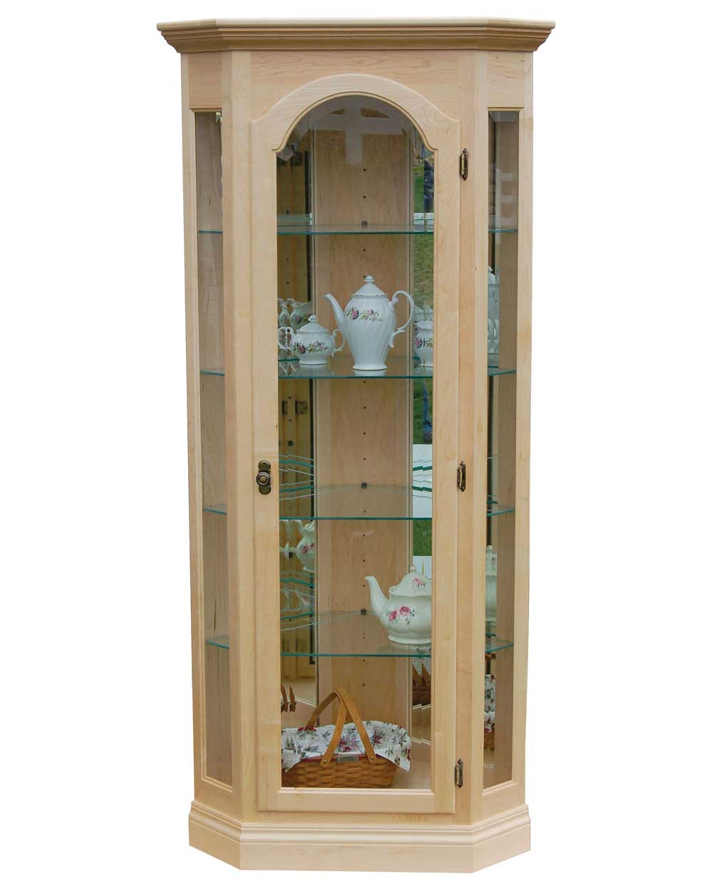 Corner Curio Cabinet Amish Direct Furniture
