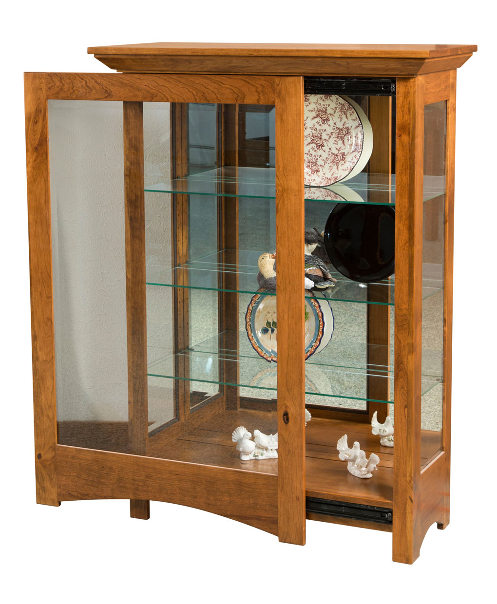living room curio cabinets leda curio cabinet amish direct furniture 13782