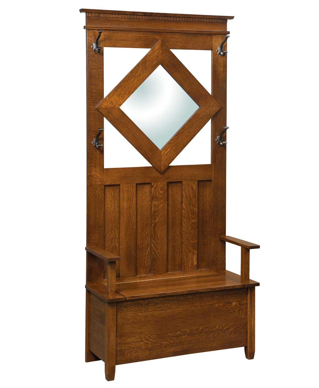Leslin Hall Seat Amish Direct Furniture