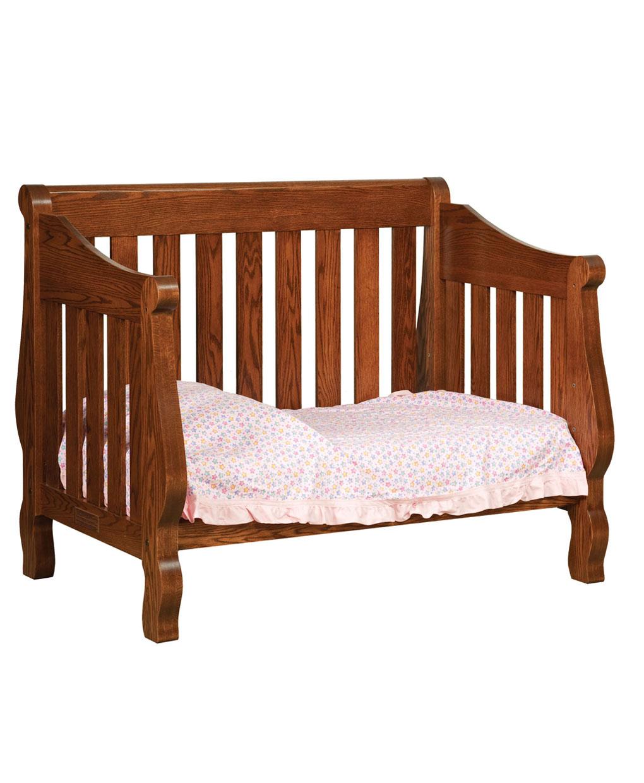 Hoosier Sleigh Conversion Crib Amish Direct Furniture