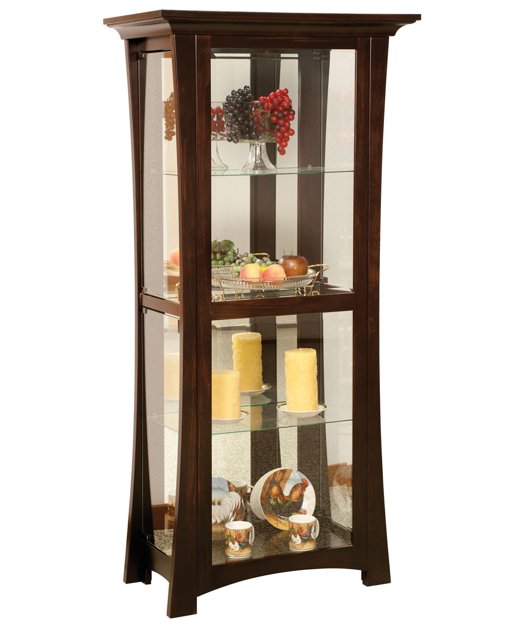 Sheridon 4 Shelf Curio Cabinet Amish Direct Furniture