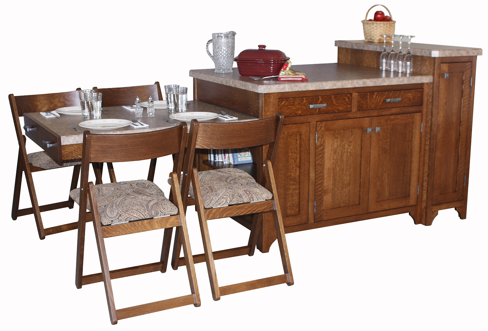 High Chair Converts To Table And Chair Space Saver Kitchen Island - Amish Direct Furniture