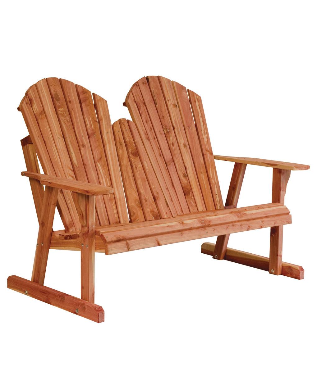 Adirondack Loveseat Bench Amish Direct Furniture