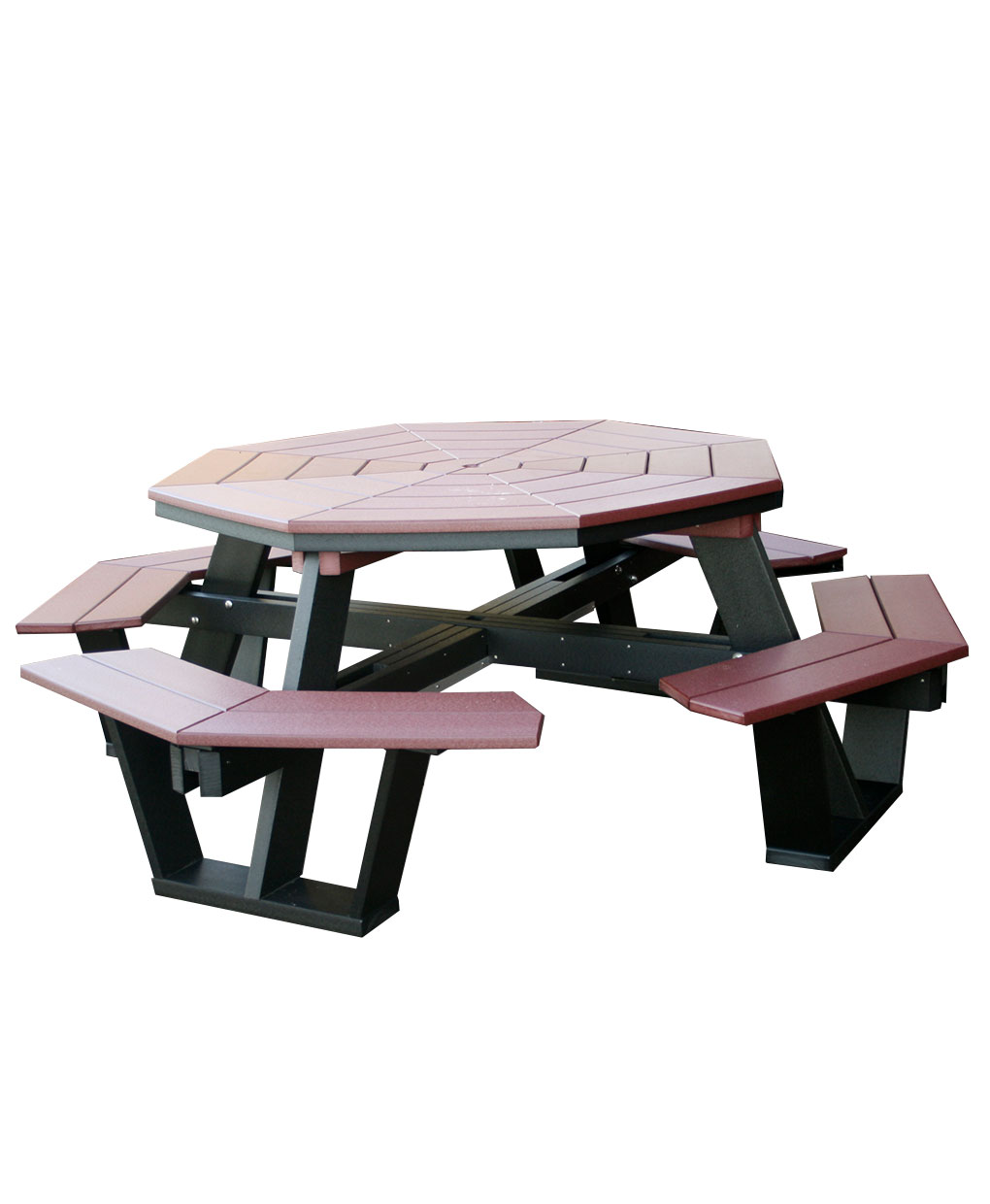 Poly Octagon Picnic Table Amish Direct Furniture - Composite octagon picnic table