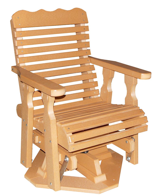 Poly Plainback Swivel Glider Amish Direct Furniture