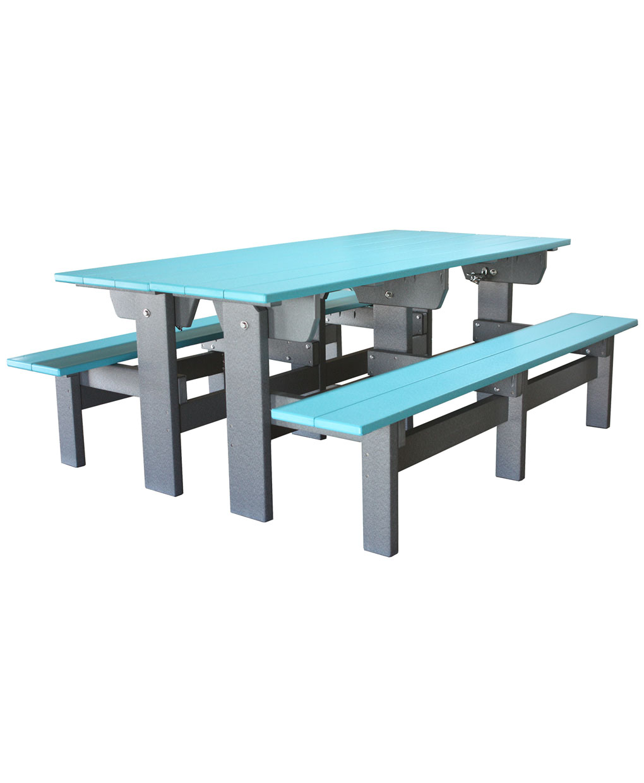 Poly Park BenchPicnic Table Amish Direct Furniture : CS PBT803 from amishdirectfurniture.com size 1020 x 1240 jpeg 64kB