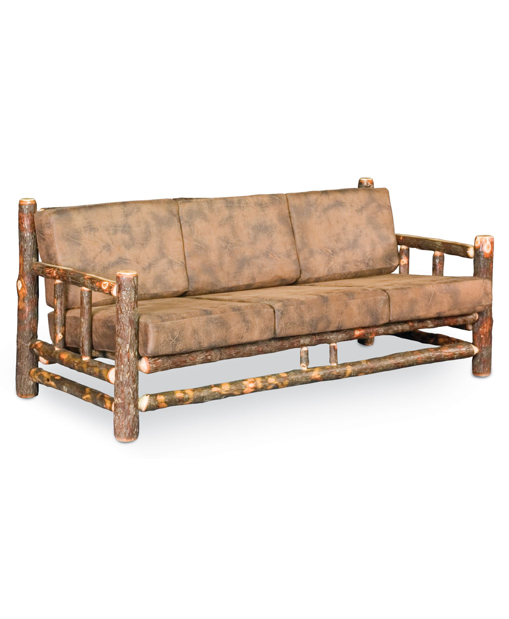 Lodge Sofa Rustic Upholstered Sofa Cabin Style Lodge