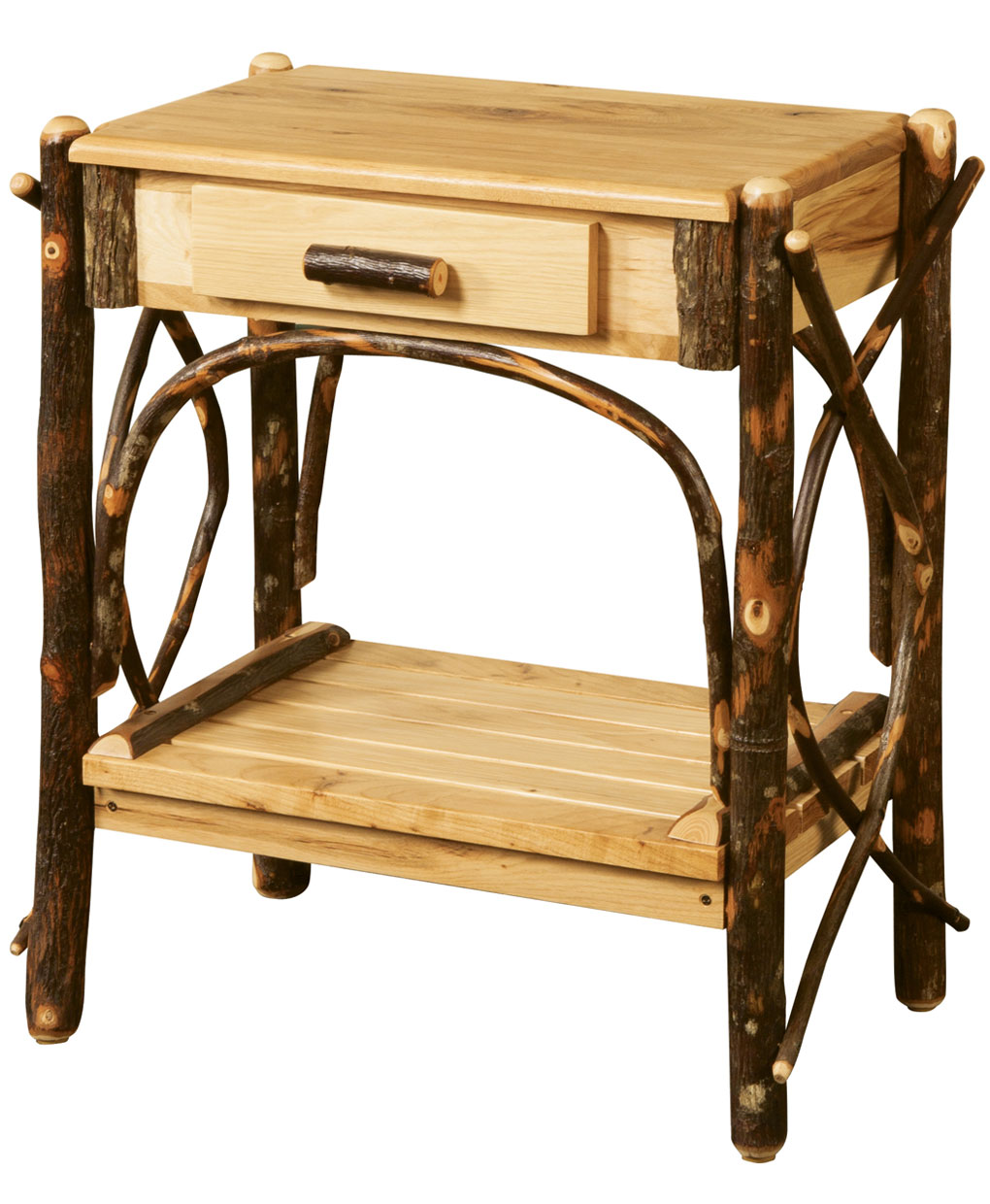 Classic Log End Table