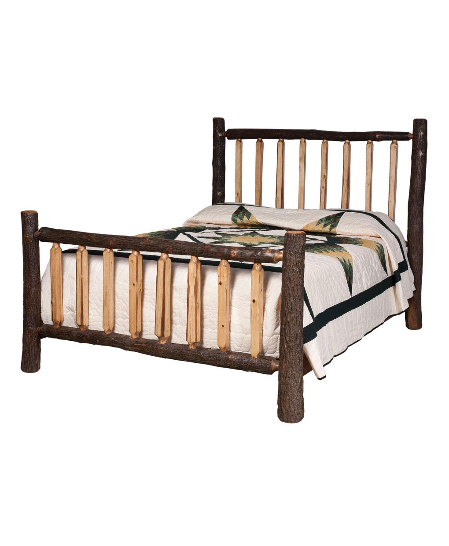 lumber jack shaved spindle bed - amish direct furniture
