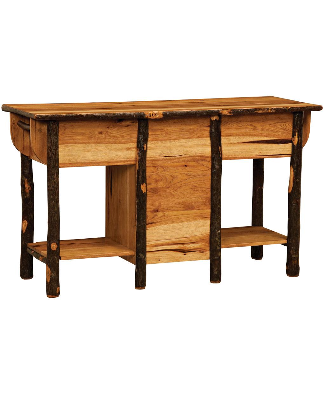 Log Kitchen Tables Log kitchen island amish direct furniture log kitchen island back workwithnaturefo