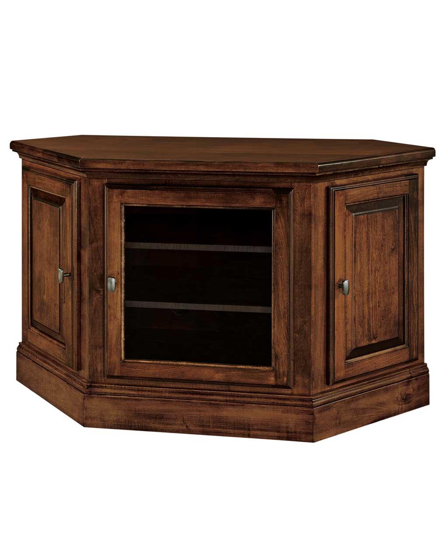Kincade 3 Door Corner Tv Stand Amish Direct Furniture