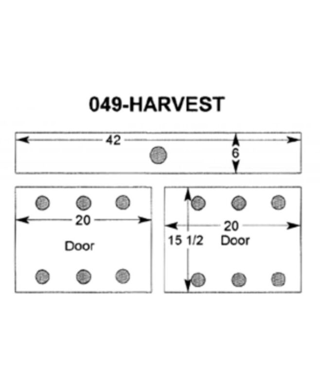 Harvest Small TV Stand [Dimensions]