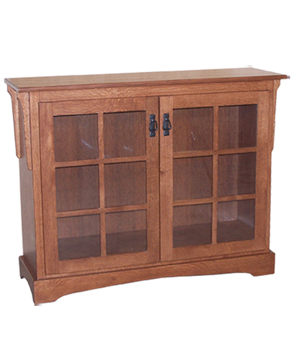 small mission bookcase with doors amish direct furniture. Black Bedroom Furniture Sets. Home Design Ideas
