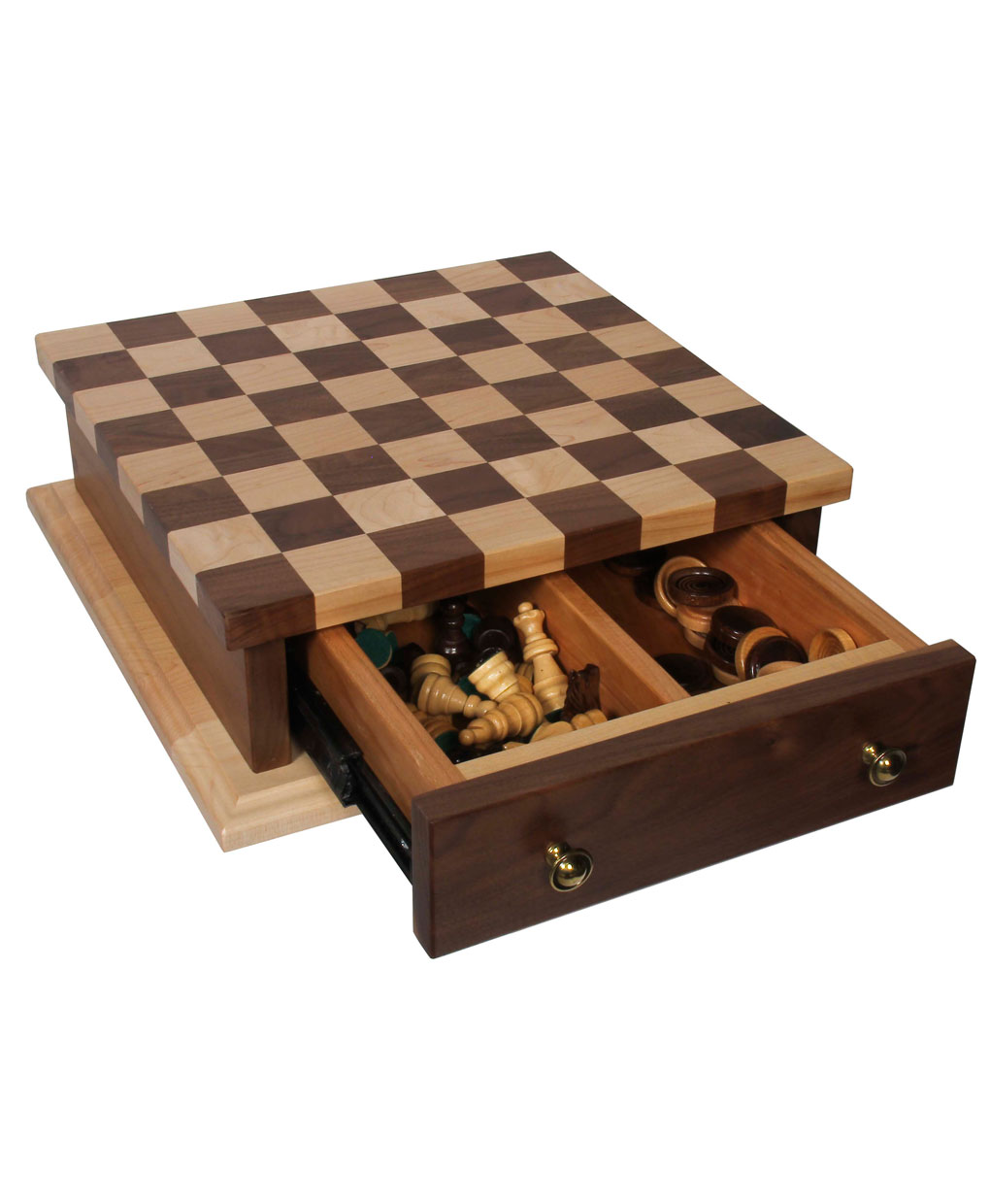 Checker and Chess Board [Detailed]  sc 1 st  Amish Direct Furniture & Chess and Checkerboard Set - Amish Direct Furniture