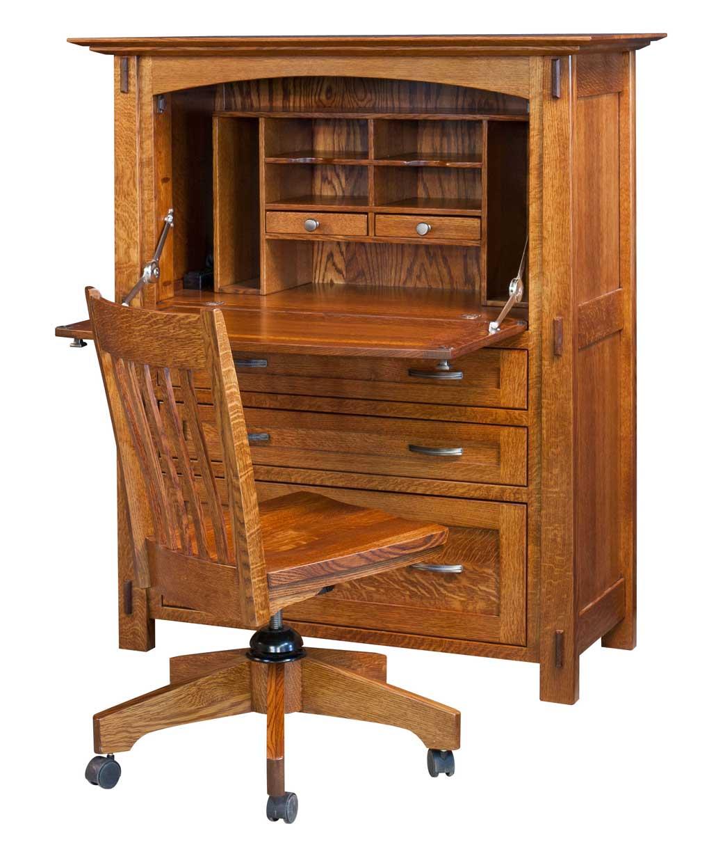 Modesto Secretary Desk [Opened]