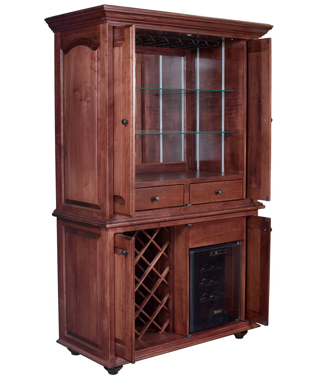 Jefferson Wine Cabinet Amish Direct Furniture