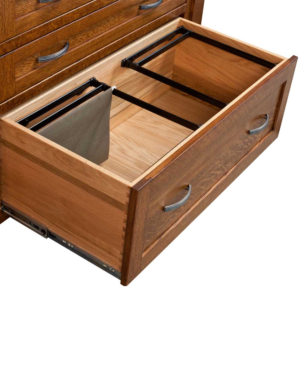 Modesto Secretary Desk File Drawer