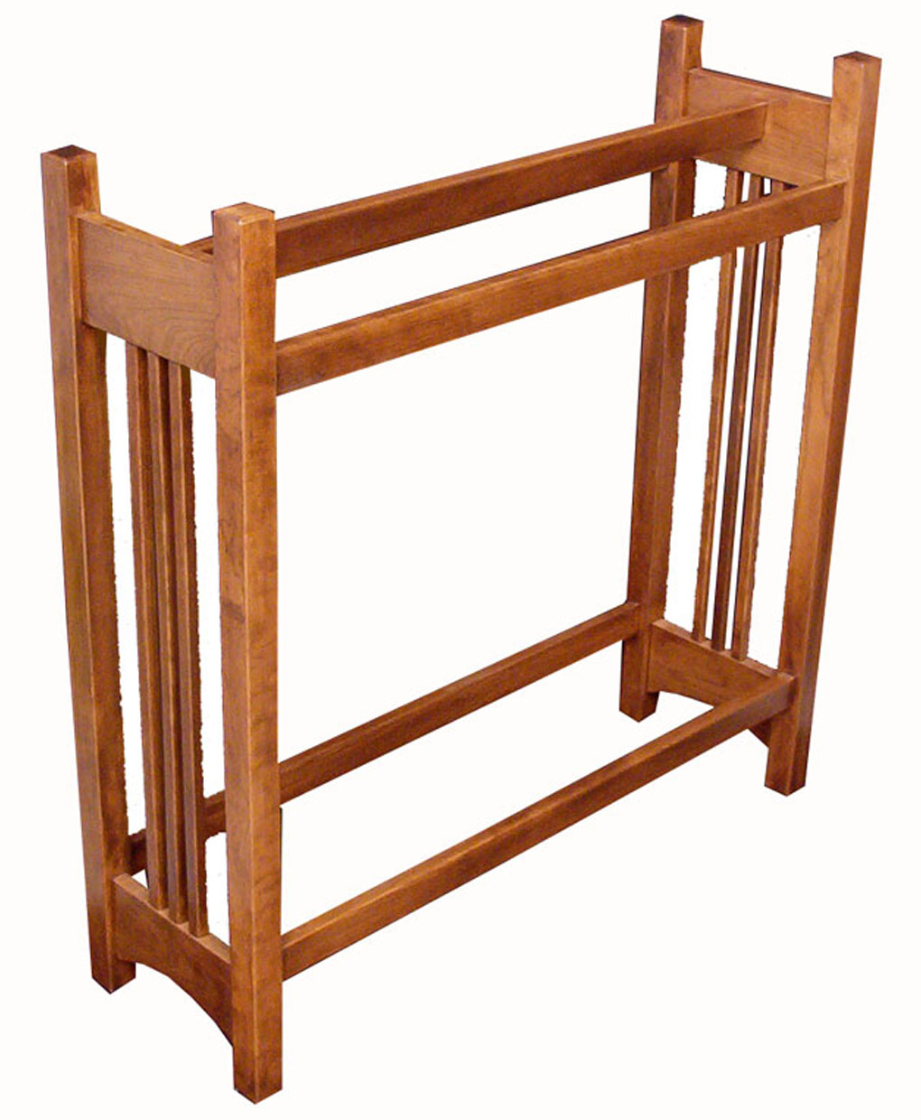 Mission Quilt Rack Cherry Amish Direct Furniture