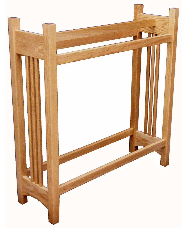 Mission Quilt Rack Oak Amish Direct Furniture