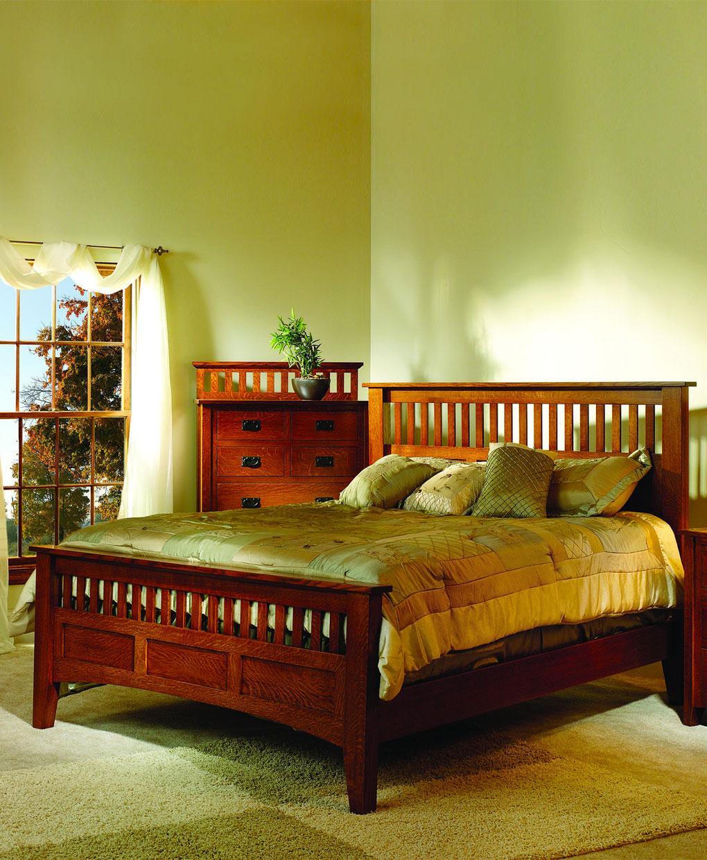 Mission Antique Bed Amish Direct Furniture