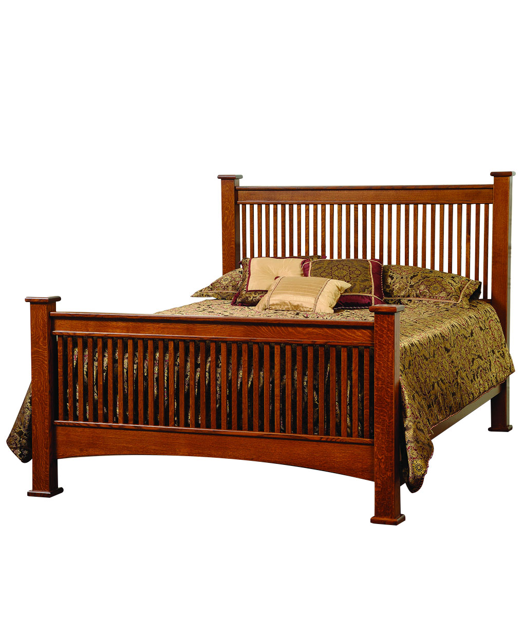 Troyer ridge mission bed amish direct furniture for Queen mission style bedroom set