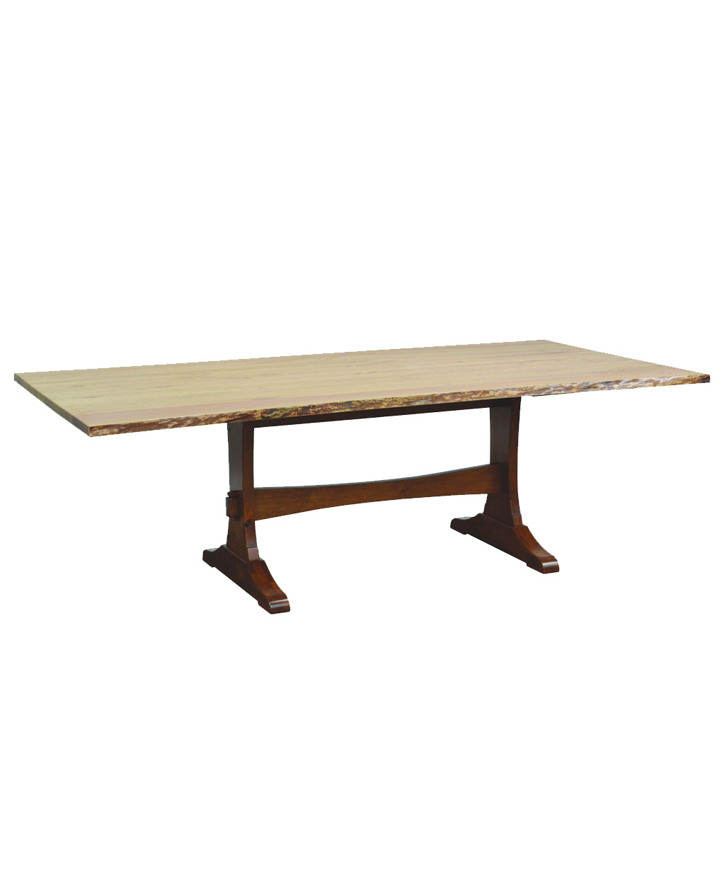 Wasilla Dining Table With Live Edge Amish Direct Furniture