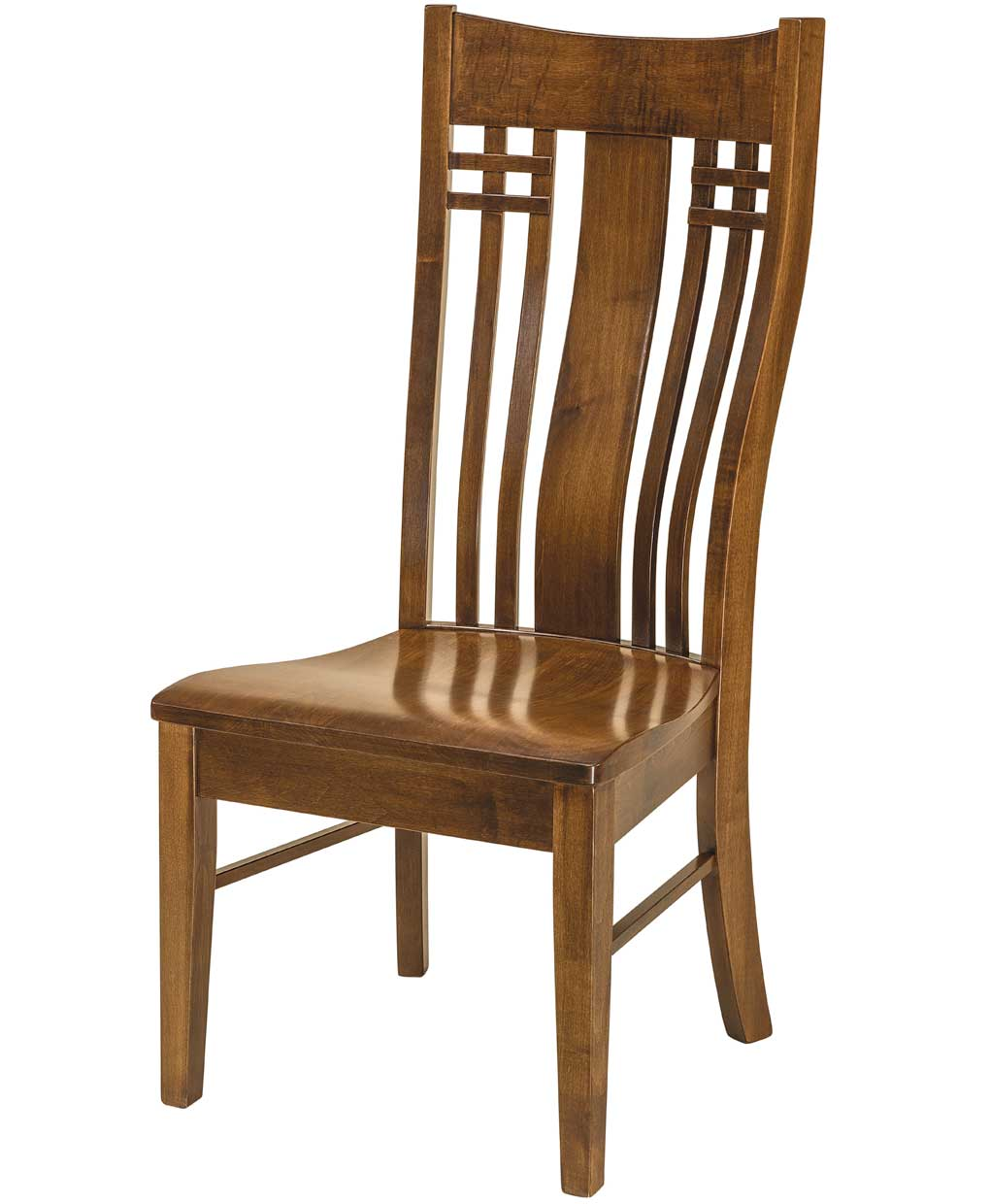 85 This Amish Dining Chair Furniture Oak Lumbar Support