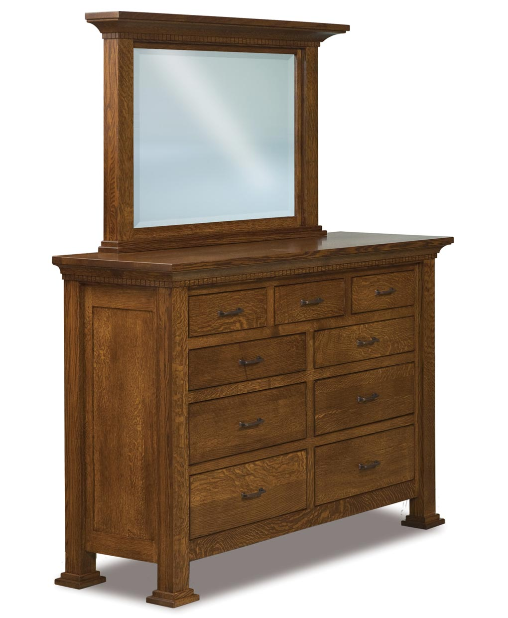 Empire 9 drawer dresser amish direct furniture for Bedroom 80 humidity