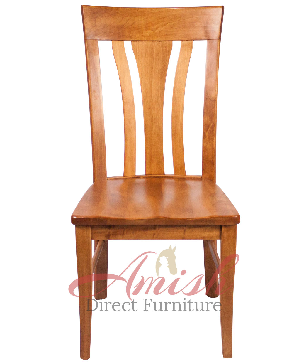 Wooden chair front view - Metro Amish Side Chair Adf Front View