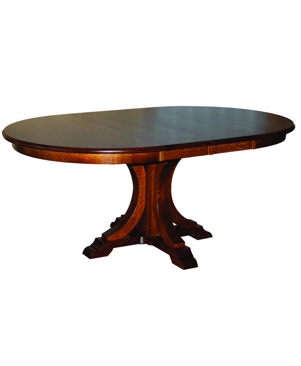 Oak Dining Room Pedestal Table
