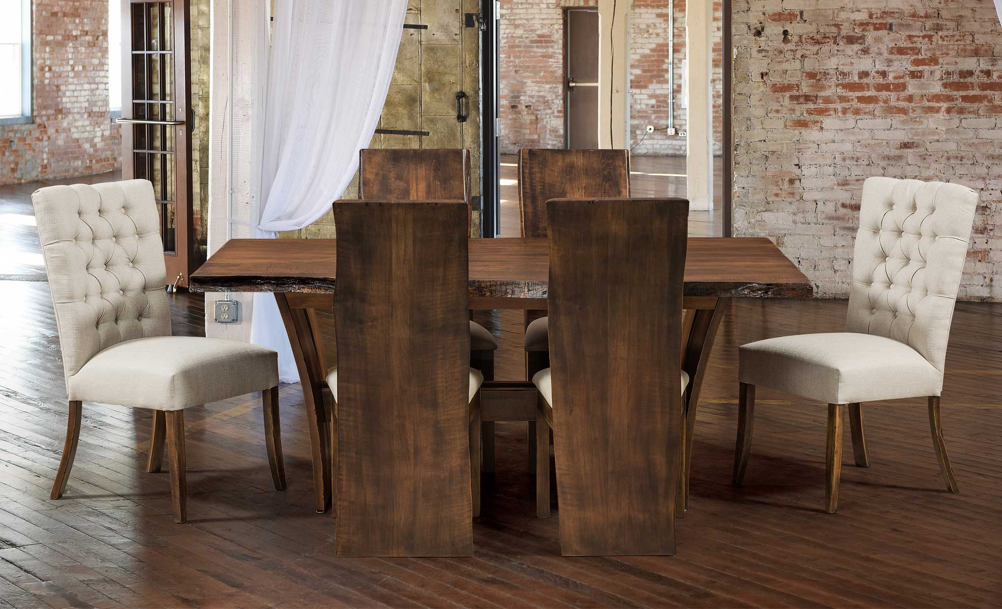 Alana Chairs, Evergreen Chairs, And Delphi Live Edge Table [Room Shot 2]