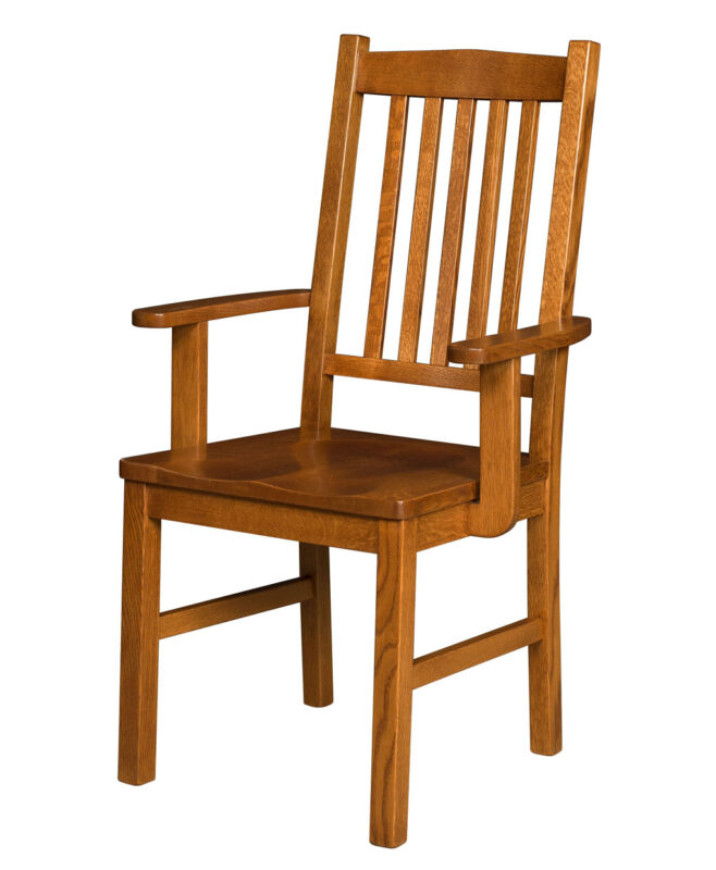Artisan Mission Amish Dining Chair [Arm]