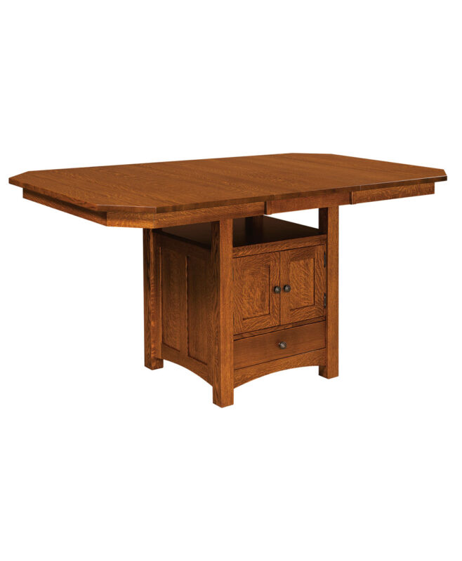 Bassett Cabinet Amish Table [With Leaf]