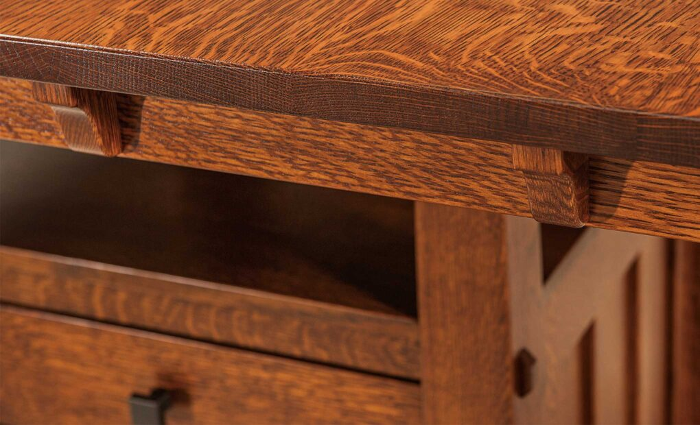Beaumont Cabinet Amish Table [Detail]