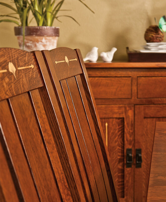 Mesa Amish Dining Chair [Back Detail]