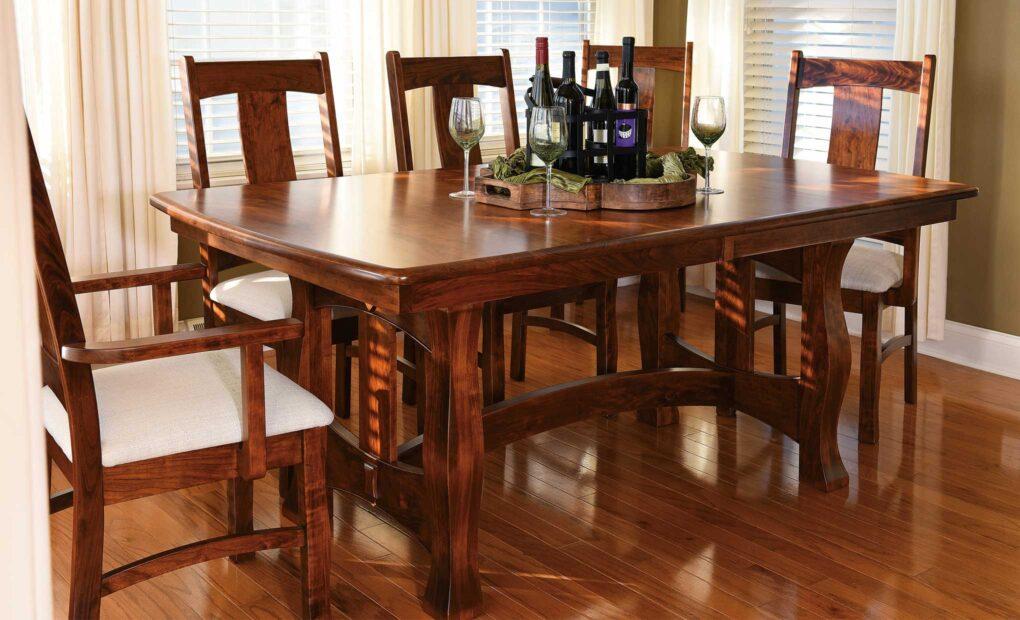 Reno Amish Trestle Table [Set]
